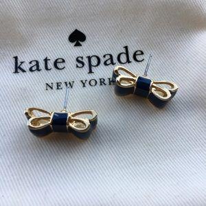 kate spade Jewelry - Kate Spade Moon River Bow Stud Earrings